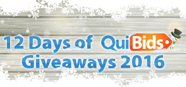 12 Days of QuiBids Giveaways 2016