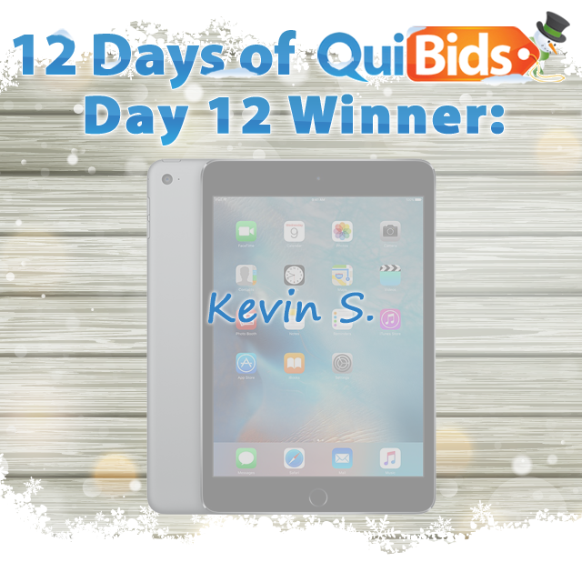day 12 winner - Kevin S.