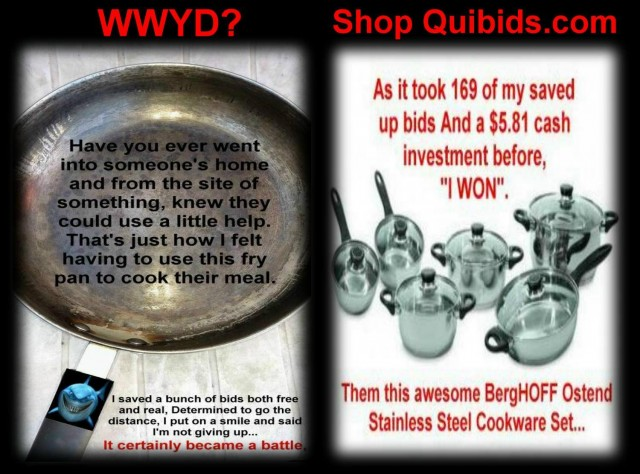 Phyllis loves shopping and saving money on QuiBids!