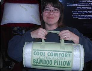 Casimina won this memory foam pillow for $1.20 using 30 voucher bids and saved 97%! #QuiBidsWin