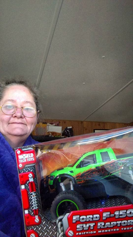 Phyllis won this RC toy truck (+ 1X Gameplay) for  $0.02 using only one voucher bid! #OneBidWin