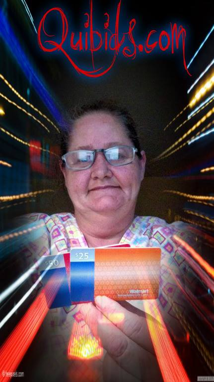 Phyllis saved big on gift cards she won on QuiBids. #QuiBidsWins