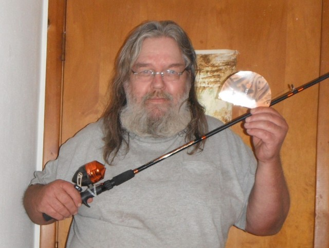 William won this fishing rod and reel for $0.15 using 7 voucher bids! #QuiBidsWin