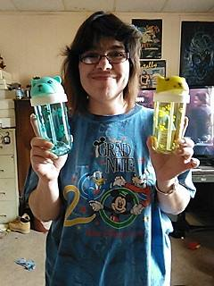 Casimina won this 2-pack sippy cup set for $0.08 using 3 voucher bids! #QuiBidsWin