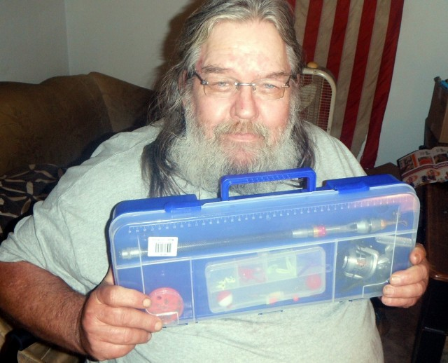 William won this tackle box for $0.32 using 18 voucher bids! #QuiBidsWin