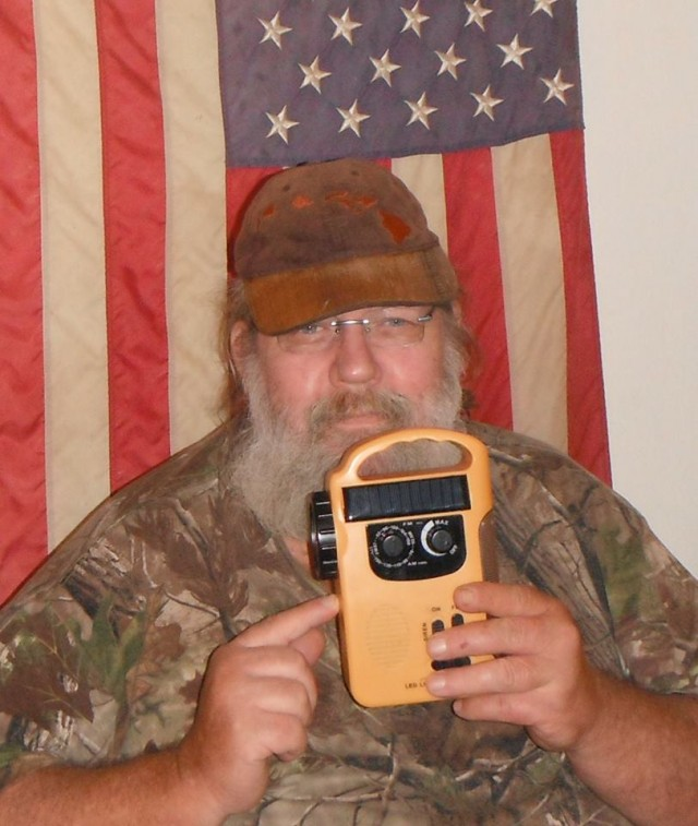 William won this emergency flashlight radio for $3.24 and saved 93%! #QuiBidsWin