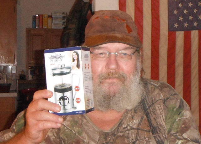 William won this coffee press for $0.03 and saved 99%! #QuiBidsWin