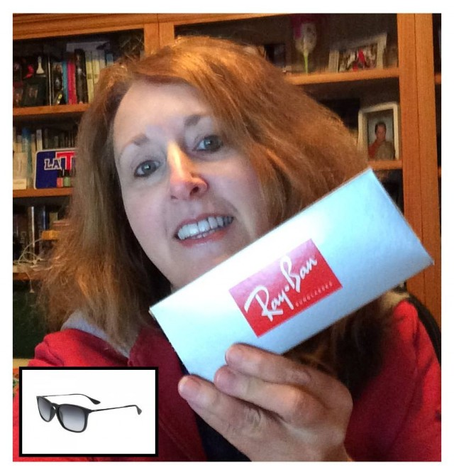Connie won these Ray Ban sunglasses for $0.64 using only 10 bids! #QuiBidsWin