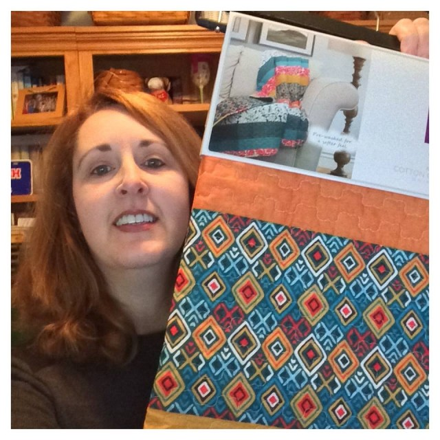 Connie won this 3pc quilt set for $0.78 using 14 voucher bids! #QuiBidsWin