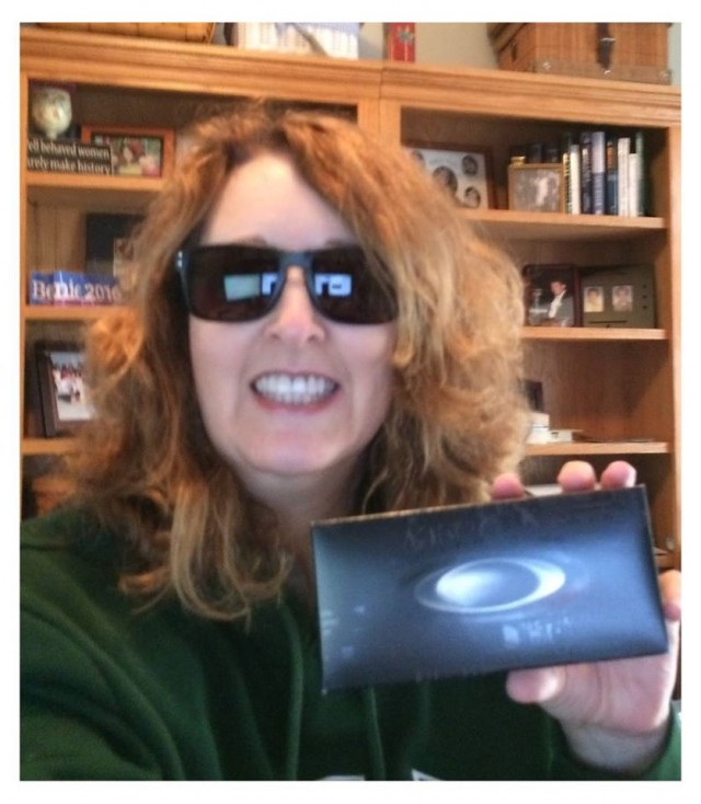 Connie won these sunglasses for $1.09 using 16 voucher bids! #QuiBidsWin