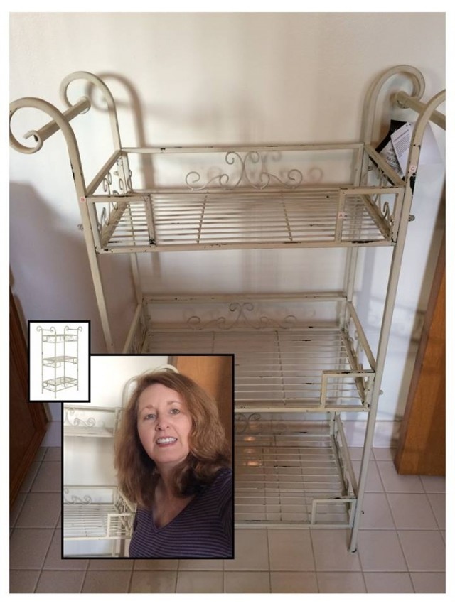 Connie won this antique shelf for $1.11 using 32 voucher bids! #QuiBidsWin