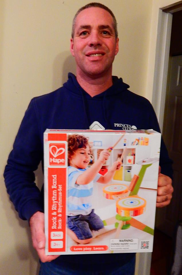 Doug used 11 voucher bids to win this toy drum set for only $0.29! #QuiBidsWin