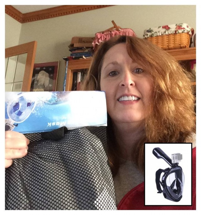 Connie won this snorkel mask for $0.56 using 17 voucher bids! #QuiBidsWin