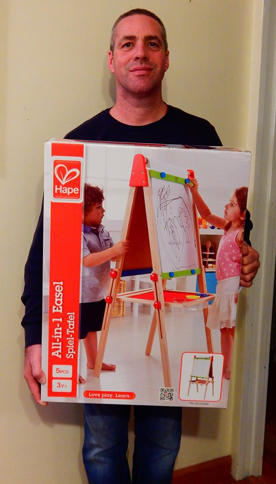 Doug wont his toy easel for $2.72 using 81 voucher bids and saved 97%! #QuiBidsWin