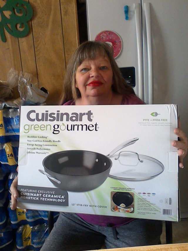 Cathy used 24 real bids to win this nonstick fry pan for only $0.56! #QuiBidsWin