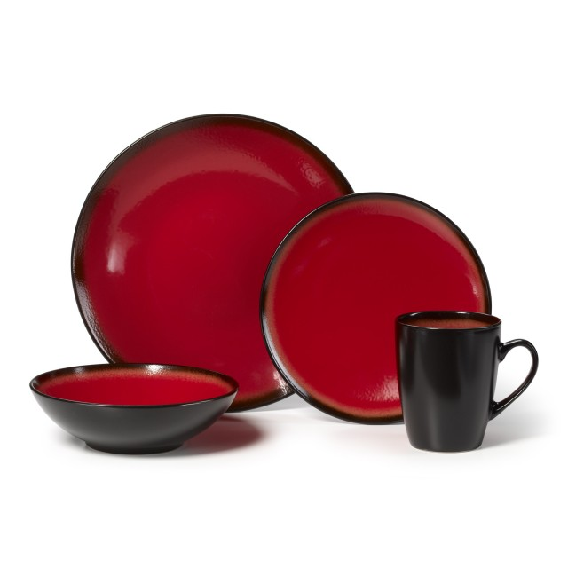 c7d50b4b0abce Pfaltzgraff Orion 16-Piece Dinnerware Set - Red - QuiBids.com
