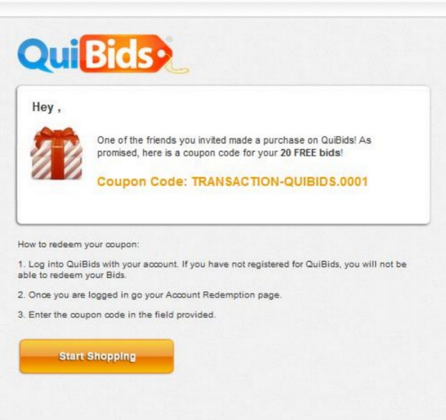 QuiBids is a fast-paced online auction website where you find all sorts of popular products at incredibly low prices. After you buy bid stacks at the QBar, you can start bidding for .